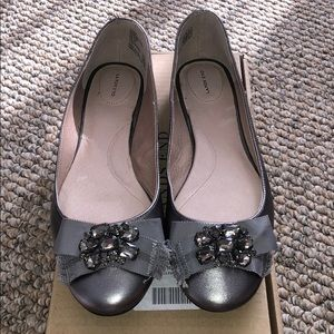 Lands' End Gunmetal Bailey Embellish Ballet